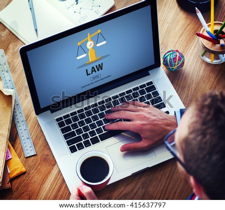 Law Judgment Rights Weighing Legal Concept - stock photo