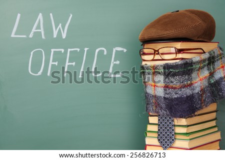 Law office, fun legal concept - stock photo