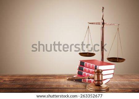 Law, photography, trial. - stock photo