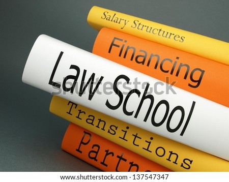 Law school (book titles) - stock photo