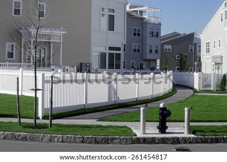 lawn near the house - stock photo