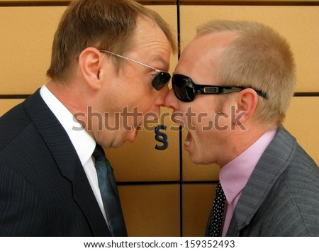 Lawyers in the dispute - stock photo