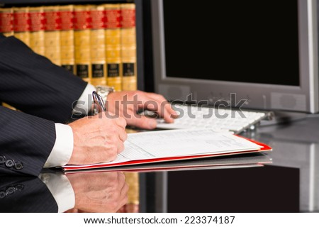 Lawyers office - stock photo