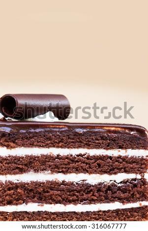 Layer Chocolate cake - stock photo