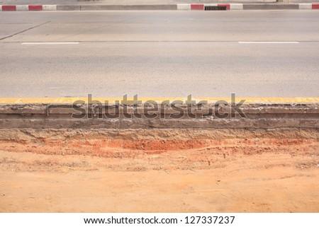 Layer of asphalt road - stock photo