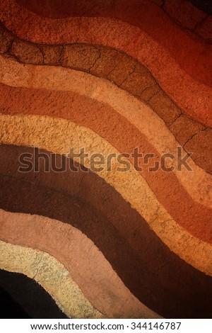 Layer of soil underground background. - stock photo