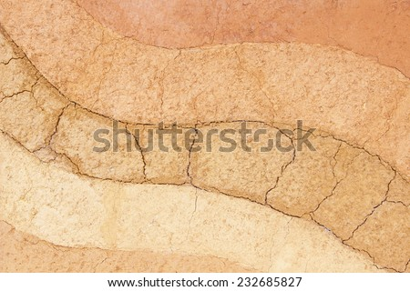 Layer of soil underground ,The color of the soil and the soil layers. - stock photo