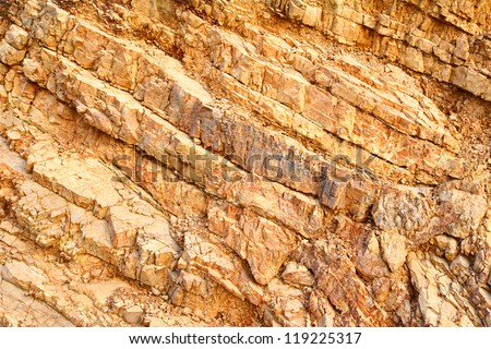 Layer of stone - stock photo