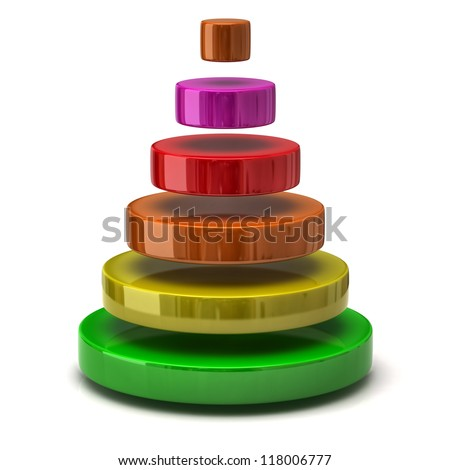 Layer pyramid - stock photo