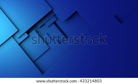 layered colored sheets in a simple 3d illustration, - stock photo