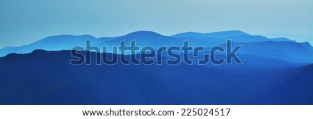 layers of mountains  - stock photo