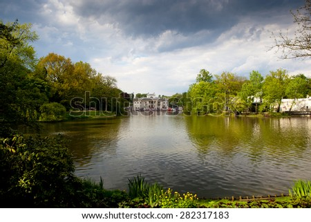 Lazienki or Royal Baths park in Warsaw in Poland - stock photo