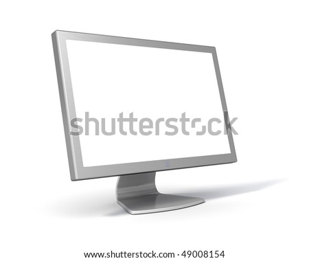 LCD Computer Monitor (with clipping Path around screen and object) - stock photo