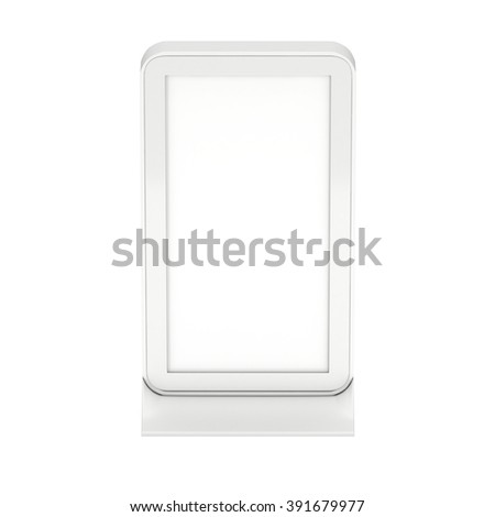 LCD Kiosk Stand. LCD Kiosk 3d. LCD Kiosk JPEG. LCD Kiosk Object. LCD Kiosk Picture. LCD Kiosk Image. LCD Kiosk Expo. LCD Kiosk Art. LCD Kiosk JPG. LCD Kiosk Render. Trade Show Booth isolated on white - stock photo