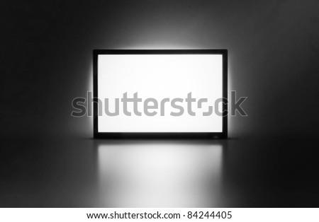 LCD monitor presentation screen - stock photo
