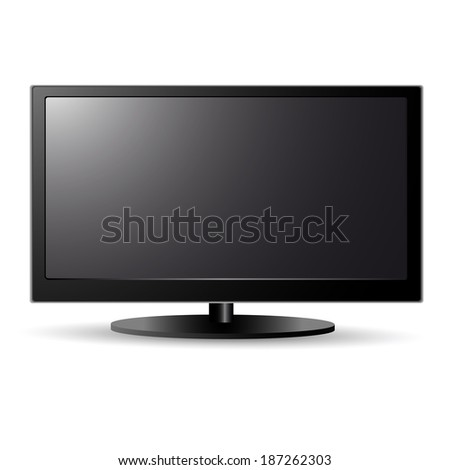 Lcd screen tv - stock photo