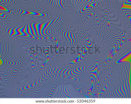 LCD TV Screen With Blue Red and Green Liquid Pattern - stock photo