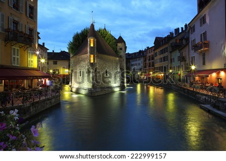Le Palais de I'lle, Annecy, France - stock photo