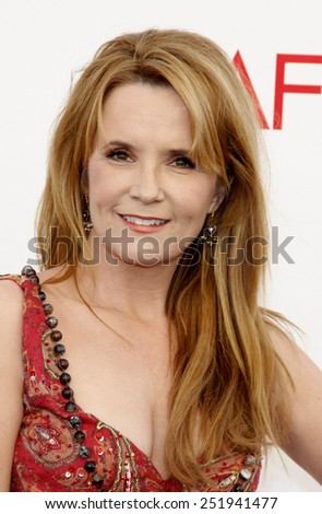 Lea Thompson at the 40th AFI Life Achievement Award Honoring Shirley MacLaine held at the Sony Studios in Los Angeles, United States, 070612.  - stock photo
