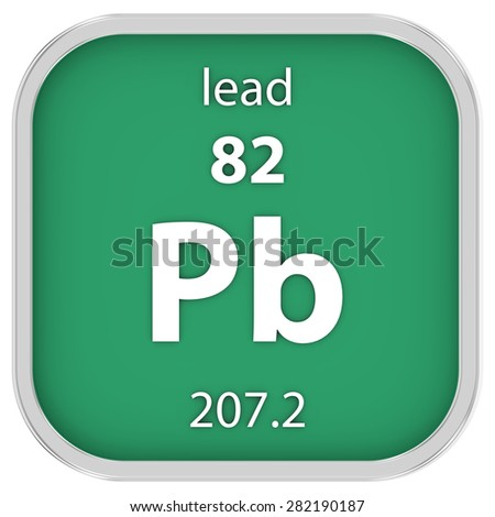 Lead material on the periodic table. Part of a series. - stock photo