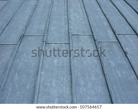Lead on a cathedral roof - stock photo