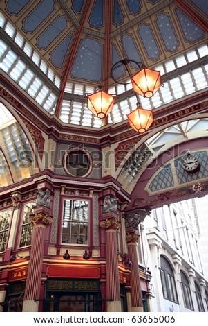 Leadenhall Market, Gracechurch Street,  London England - stock photo