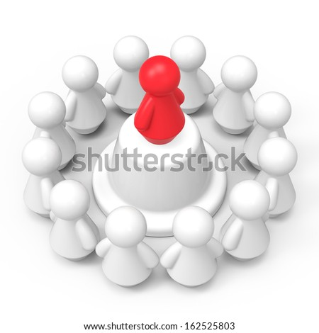 Leader concept. Abstract 3d illustration isolated on white background. - stock photo