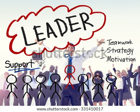 Leader Leadership Management Responsibility Vision Concept - stock photo
