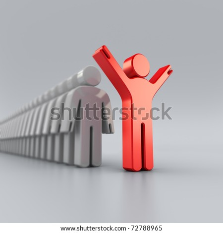 Leader man - stock photo