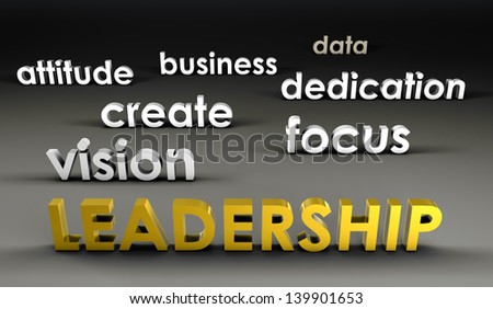 Leadership at the Forefront in 3d Presentation - stock photo