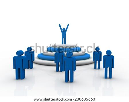 Leadership concept  - stock photo
