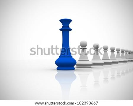 Leadership concept - 3d render - stock photo