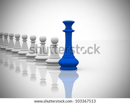 Leadership concept - 3d render - stock photo