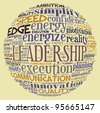 Leadership concept in word collage - stock photo