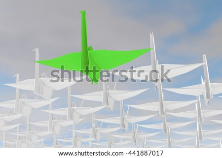 Leadership concept. Isolated on sky background. . 3d render. - stock photo