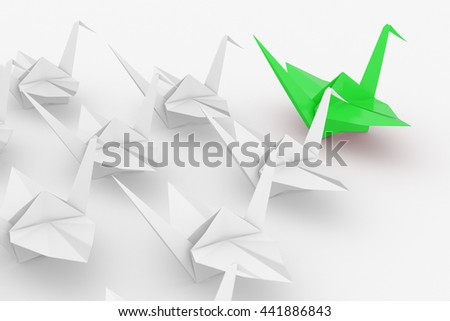 Leadership concept. Isolated on white background. . 3d render. - stock photo