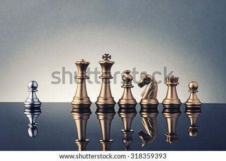 Leadership Concept of chess  - stock photo