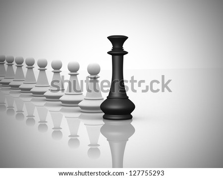 Leadership concept - This is a 3d render illustration - stock photo
