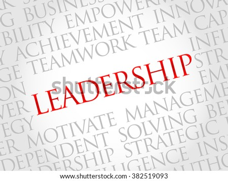 LEADERSHIP word cloud, business concept - stock photo