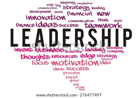 leadership word on speech bubble colorful concept - stock photo