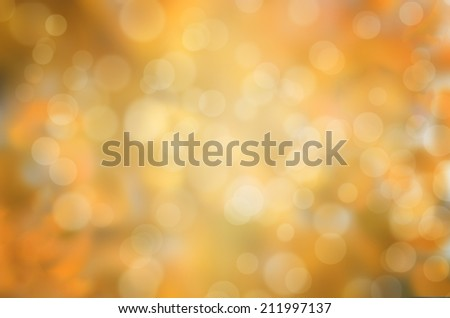 leaf fall abstract background with sun beams and flares - stock photo
