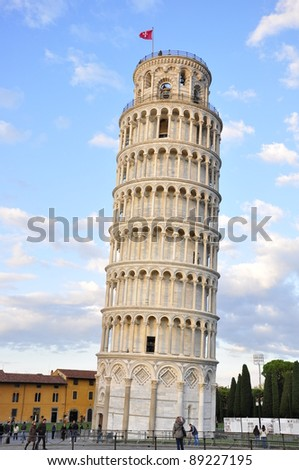 Leaning Tower.Italy.Pisa. - stock photo
