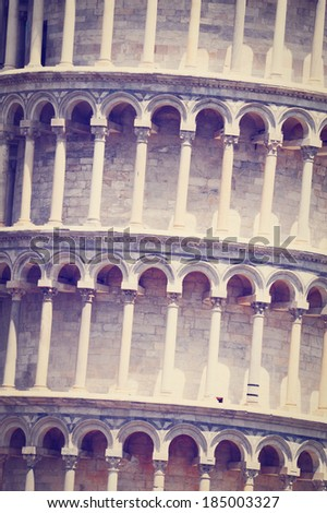 Leaning Tower of Pisa, Instagram Effect  - stock photo