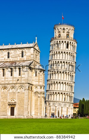 Leaning tower of Pisa, Tuscany - stock photo
