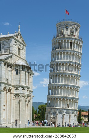 Leaning tower of Pisa, Tuscany, Italy  - stock photo
