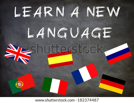 learn a new language - stock photo