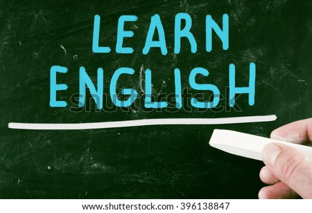 learn english - stock photo