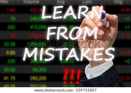 Learn from mistakes concept  - stock photo