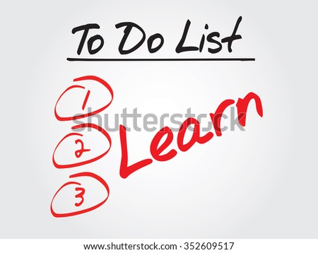 Learn in To Do List, business concept - stock photo