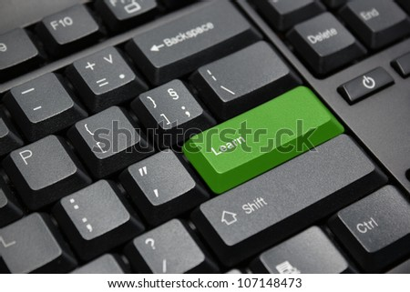 Learn key - stock photo